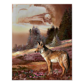 Coyote, encounter with the Iron Horse. Poster