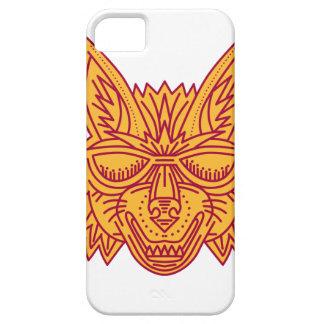 Coyote Head Sunglasses Smiling Mono Line iPhone 5 Cases