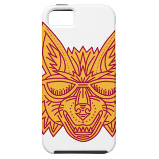 Coyote Head Sunglasses Smiling Mono Line iPhone 5 Cover