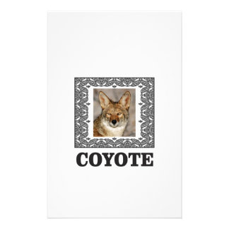 coyote in a box stationery
