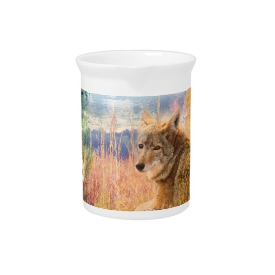 Coyote Landscapes North American Park Outdoor Dog Pitcher