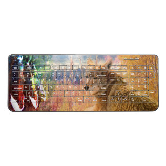Coyote Landscapes North American Park Outdoor Dog Wireless Keyboard