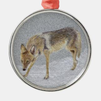 Coyote Metal Ornament