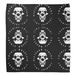 Coyote Mountain Trading Post Original B&W Bandanna