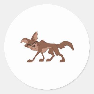 Coyote Round Sticker