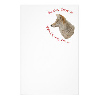 coyote customized stationery