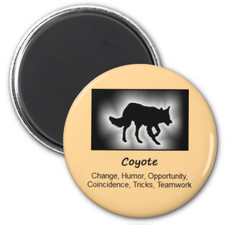 Coyote Totem Animal Spirit Meaning 6 Cm Round Magnet