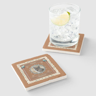 Coyote  -Trickster- Marble Coaster