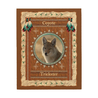 Coyote  -Trickster- Wood Canvas
