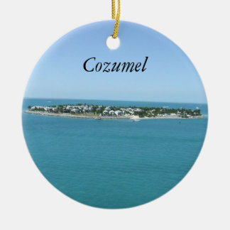 Cozumel Blue Water Tropical Ornamement Ceramic Ornament