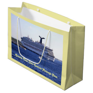 Cozumel Cruise Ship Visit Custom Large Gift Bag