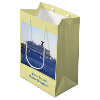 Cozumel Cruise Ship Visit Custom Medium Gift Bag