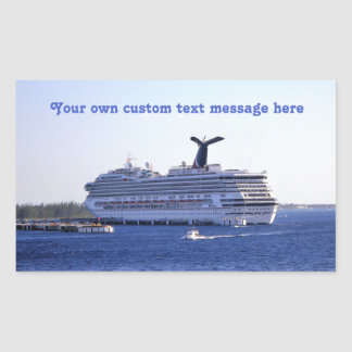 Cozumel Cruise Ship Visit Custom Rectangular Sticker