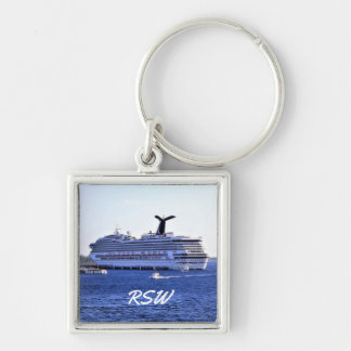 Cozumel Cruise Ship Visit Monogrammed Key Ring