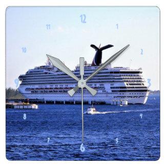 Cozumel Cruise Ship Visit Square Wall Clock