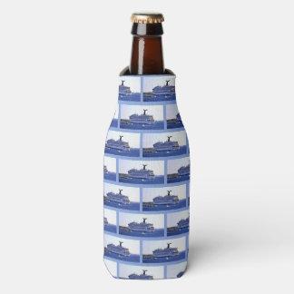 Cozumel Cruise Ship Visitor Pattern Bottle Cooler