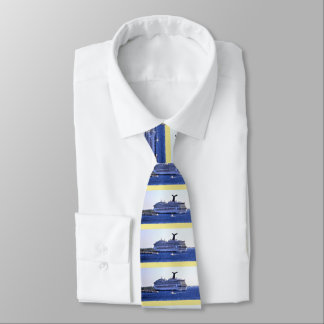 Cozumel Cruise Ship Visitor Stripe Tie