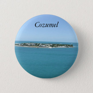 Cozumel Island Blue Water Tropical 6 Cm Round Badge