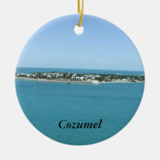 Cozumel Island Blue Water Tropical Ceramic Ornament