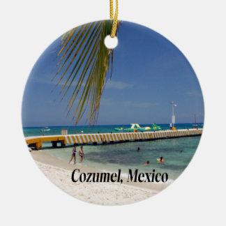 Cozumel Mexico Round Ceramic Decoration