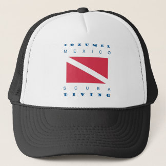 Cozumel Mexico Scuba Dive Trucker Hat