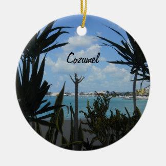 Cozumel Round Ceramic Decoration