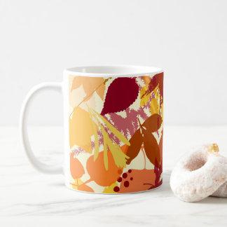 Cozy Autumn Leaves Pattern Mug
