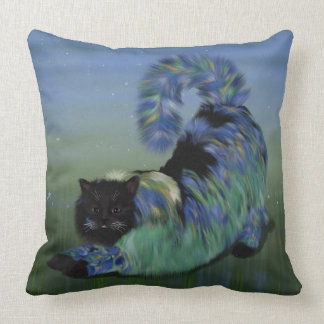 Cozy Black Fluffy Lillie Cat Cushion