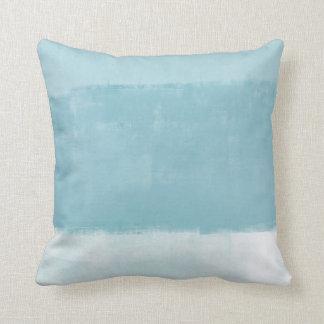 'Cozy' Blue Abstract Art Cushion