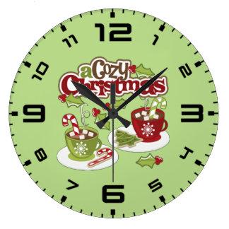 Cozy Chirstmas Large Clock