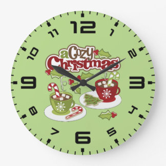 Cozy Chirstmas Wall Clock