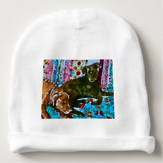 cozy chocolate lab black lab baby beanie