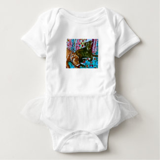 cozy chocolate lab black lab baby bodysuit