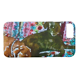 cozy chocolate lab black lab iPhone 8/7 case
