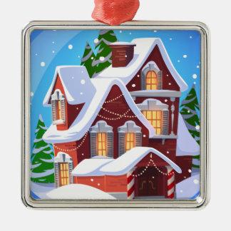 Cozy Christmas House Ornament