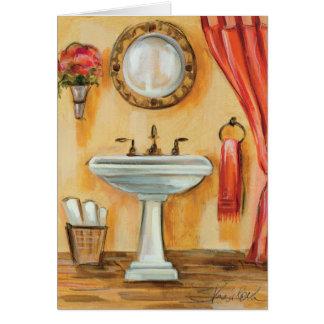 Cozy Contemporary Bathroom Cards