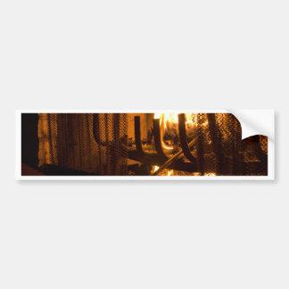 Cozy Fireplace Bumper Sticker