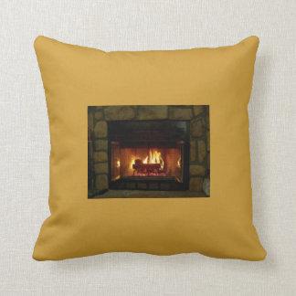 Cozy Fireplace Pillow