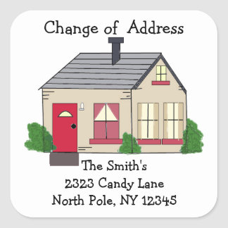 Cozy Home Change of Address Square Sticker