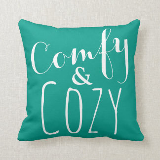 Cozy Home Decor - Throw Pillows in Teal and White