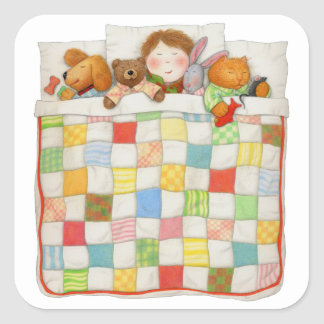 Cozy Quilt Square Sticker