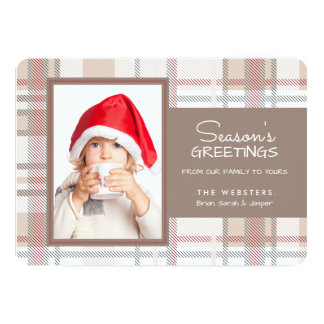 Cozy Season's Greetings Photo Holiday Card 13 Cm X 18 Cm Invitation Card