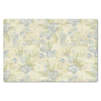 Cozy vintage floral textile Forget Me Not Tissue Paper