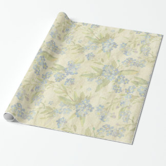Cozy vintage floral textile Forget Me Not Wrapping Paper