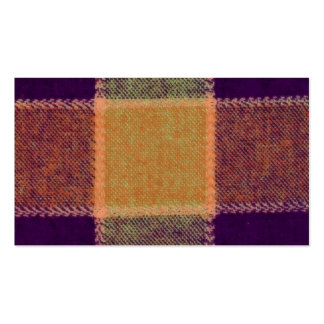 Cozy Warm Plaid Pattern Pack Of Standard Business Cards