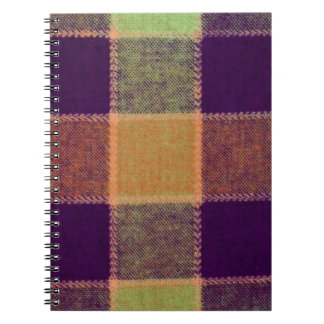Cozy Warm Plaid Pattern Spiral Note Book