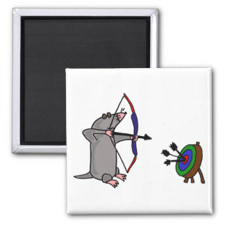 CP- Blind Mole in Archery Competition Square Magnet