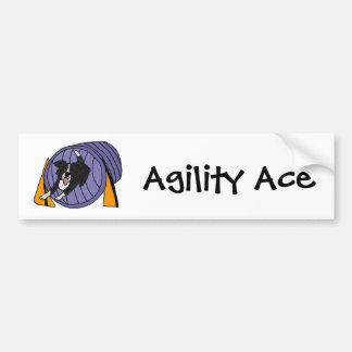 CP- Dog Agility Tunnel Cartoon Bumper Sticker
