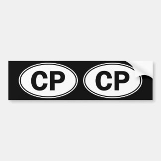 CP Oval ID Bumper Sticker