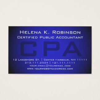 CPA Certified Public Accountant Striking Blue